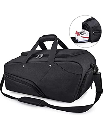 ba802a6cec1 NUBILY Gym Bag Sports Duffle Bag with Shoe Compartment Waterproof Large  Travel Holdall Bags Weekend Bag