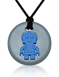 Robot Pendant - Silicone Necklace (Teething/Sensory) (Blue)