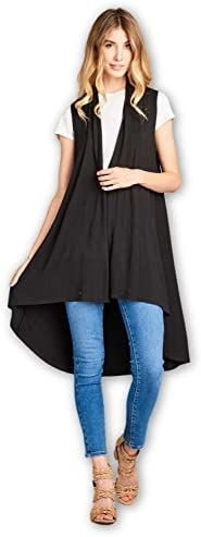 ReneeC Womens Natural Sleeveless Cardigan product image
