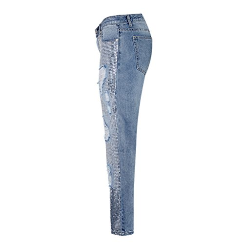 Extensible Branch Confortable Pantalon Ajust Pantalon Pants Dames L'automne Denim Zhuhaitf Jeans Argent Qualit Leggings amp;bleu Denim ExqaCSzX