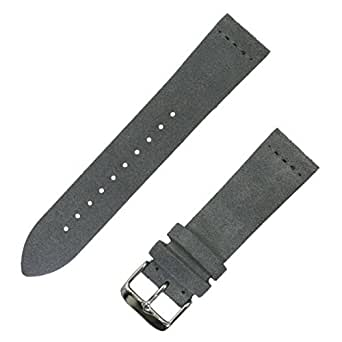 Benchmark Straps 18mm Suede Watchband in Slate Gray