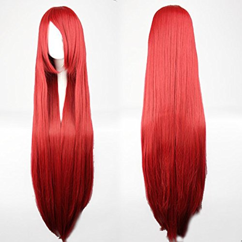 100 cm red wig - 3