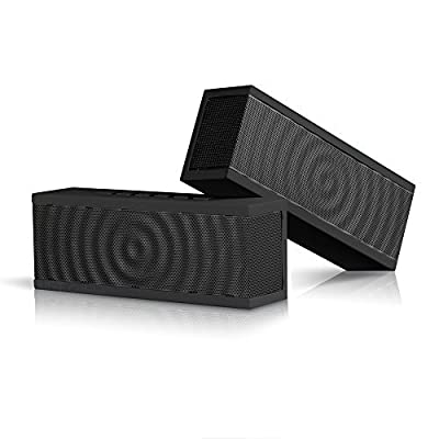 SoundBlock Wireless Bluetooth Stereo Speaker for Computers & Smartphones - Bluetooth 3.0 Technology with Built-in Speakerphone and 10 Hour Rechargeable Battery
