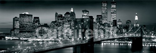 New York Manhattan Black and White Panorama Photo Art Print Poster