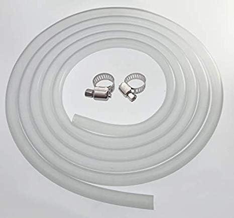 Hochtemperatur lebensmittelechtes Rohr mit Edelstahl-Schneckenverschluss-Schlauchschellen DIGITEN Silikonschlauch 10 mm Innendurchmesser x 13 mm Au/ßendurchmesser 3 m