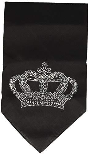Mirage Pet Products Crown Rhinestone Bandana, Large, Black