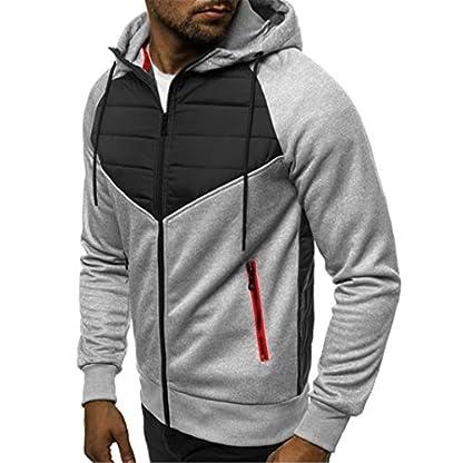 VANVENE Men's Casual Hoodie Sweatshirts Full Zip up Jumper Jacket Cardigan Hooded M-3XL 2