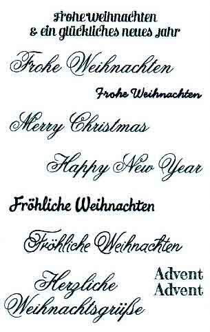 Weihnachten Bilder Mit Text.Clearstamp Stempelset Silikon Stempel Texte Weihnachten 9tlg