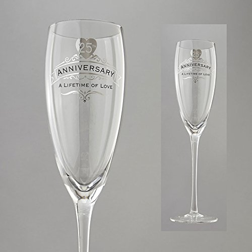 Enesco Insignia 25th Anniversary Anniversary Wine (25th Anniversary Toasting Glasses)