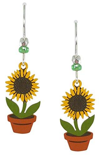 Sienna Sky Sunflower Pot Drop Earrings 1384