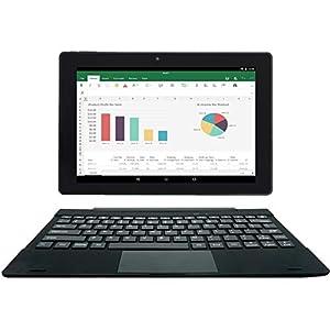 [3 Bonus Items] Simbans TangoTab 10 Inch Tablet and Keyboard 2-in-1 Laptop, 2 GB RAM, 32 GB Disk, Android 9 Pie, Mini…