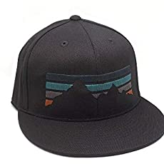 469187af4e469 Mountain Fade Hat - Men s Unisex Hat - 2 Color Options - Fitted and Snapback .