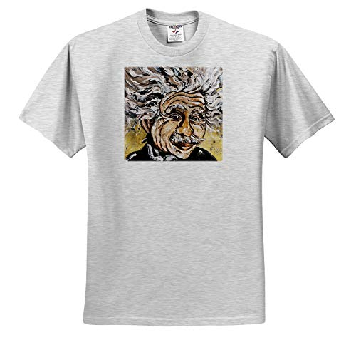 Art by Mandy Joy - People - A Modern Impressionist Image of Albert Einstein. - T-Shirts - Toddler Birch-Gray-T-Shirt (2T) (ts_294462_31) -