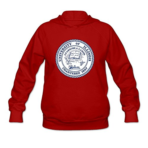 Women's University Of Illinois At Urbana Champaign UIUC Seal Lightweight Hoodie ()