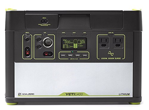Goal Zero Yeti 1400 Lithium Portable Power Station 1425Wh Silent Gas Free Generator Alternative With 1500 Watt (3000 Watt Surge) AC Inverter, USB, 12V Outputs (Certified Refurbished)