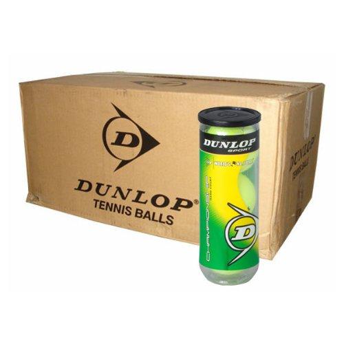 (DUNLOP Championship Hard Court Tennis Balls - Case of 24 Cans - 72 Balls, Green )
