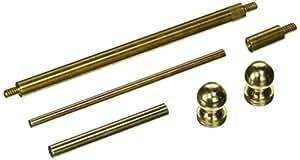 "Stanley Hardware CD750 4"" X 4"" Solid Brass Hinge Tip Kit in Bright Brass"
