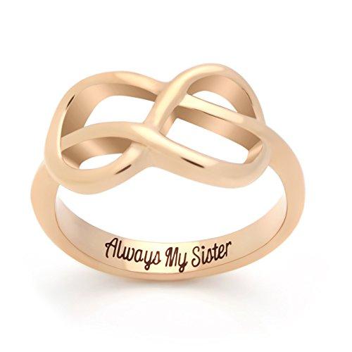 Tzaro jewelry 3415 sister infinity ring promise ring for Infinity ring jewelry store