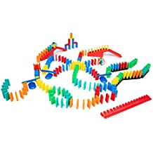 Bulk Dominoes 204 pcs Kinetic Dominoes Large PRO-Scale Stacking Building Toppling Chain Reaction Dominoes Set for Kids and Creators