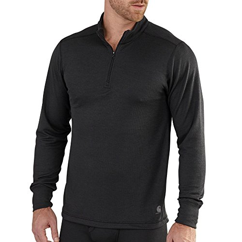 Carhartt Men's Base Force Extremes Cold Weather Quarter-zip Sweatshirt, Black, Small (Mens Cold Thermal Underwear)