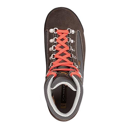 pour femme Fluo Red Black montantes AKU randonnée de Chaussures Nero SXxRnnTIH