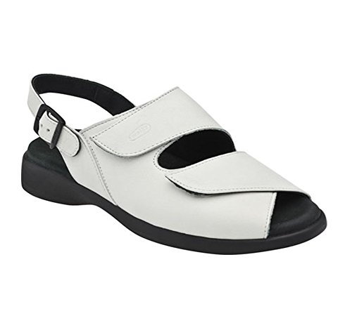 Wolky Womens 3204 Jewel Leather Sandals Off White Italian Softy
