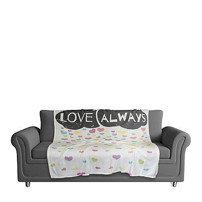 Designs Direct ''Love Always'' Cloud Throw Blanket   Measures 50'' W x 60'' L