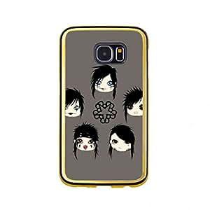 Cover Für Samsung Galaxy S6(Gold Frame) American Black Veil Brides Band funda de Hard Plastic funda de