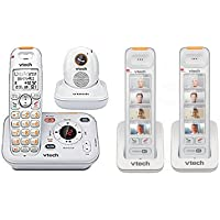 VTech SN6187 Cordless Telephone + (2) SN6307 Photo Speed Dial Cordless Handsets and Chargers