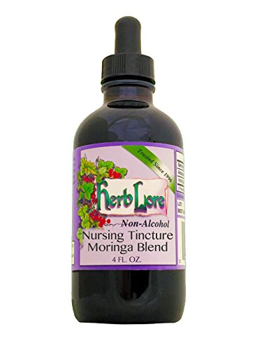 Mama Calm Raspberry (Herb Lore Organic Nursing Tea Tincture With Moringa. Sweet Glycerine Base, 4 Ounces, Lactation Tea Helps Increase Breast Milk Supply Naturally And Calms Colic And Gas in Baby and Mama)