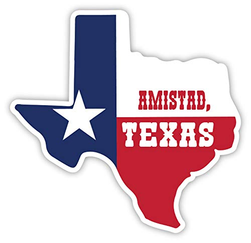 R and R Imports Amistad Texas 4 Inch State Shape Vinyl Decal Sticker