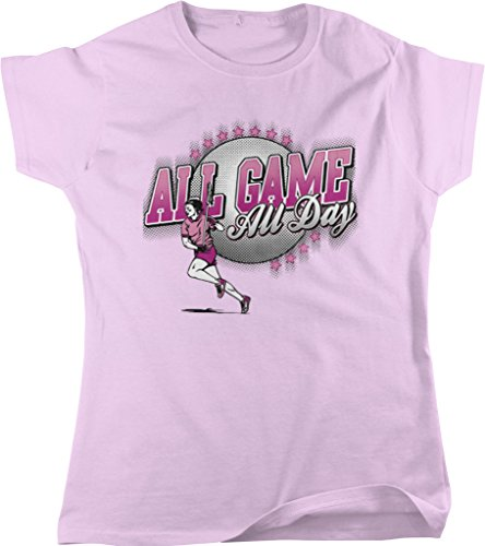 All Game, All Day Women's Lacrosse, LAX Women's T-shirt, NOFO Clothing Co. XL Pink (Gait Net Lacrosse)