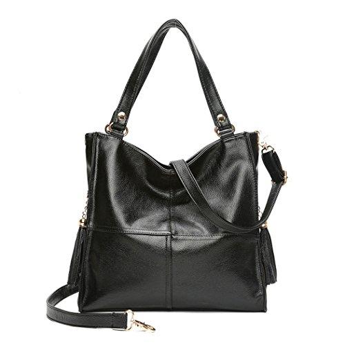 mano hombro y y Mujer Bolsos Fekete de Carteras bolsos bandolera clutches Shoppers de OqcUzHR