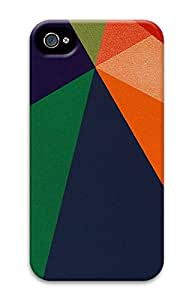 iPhone 4 4s Case, iPhone 4 4s Cases - Patterns Shapes 2 PC Polycarbonate Hard Case Back Cover for iPhone 4 4s