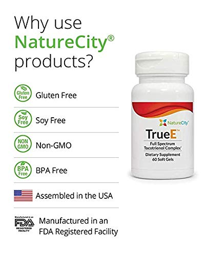 True E Full Spectrum Tocotrienol Complex - Helps Boost & Maintain Cardiovascular Health - 60 Soft Gels (2) by NatureCity (Image #2)