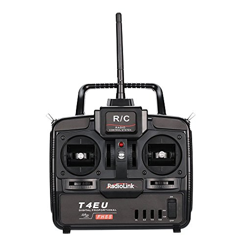 GOOLSKY RadioLink T4EU-6 2.4G FHSS 6CH Transmitter & R7EH-S 7CH Receiver for RC Helicopter Airplane