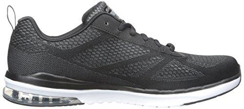 Skechers Sketch Air Infinity, Zapatillas de Deporte Interior para Hombre Negro - Noir (Noir/Blanc)