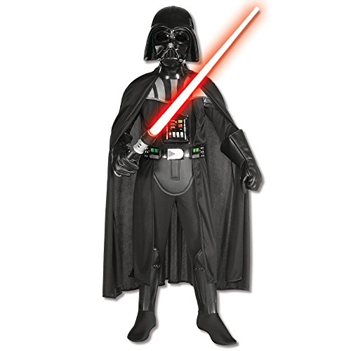 New England Halloween Storm (Rubies Star Wars Classic Child's Deluxe Darth Vader Costume and Mask,)