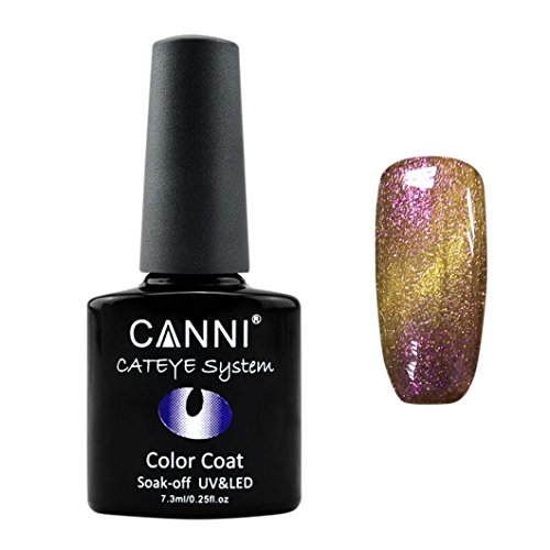 Nail Polish,NOMENI 7.3ml nail cat design color UV UV / LED Chameleon Cat eye Glue C