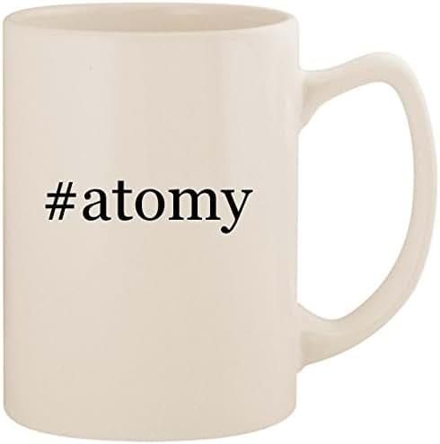 #atomy - White Hashtag 14oz Ceramic Statesman Coffee Mug Cup