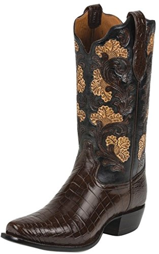 Tony Lama Men's Kango Hand-Tooled Signature Series Nile