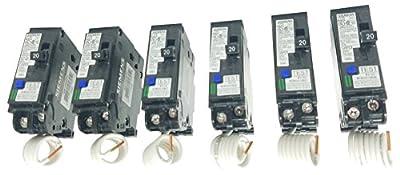 Siemens 3 Pack QA120AFC Breaker, 20A, Black, 3 Piece