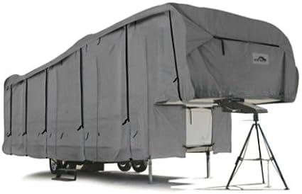 126-Inch HF x 114-Inch HR x 102-Inch W Camco 45755 RV 34-Feet Ultra Guard 5th Wheel Cover