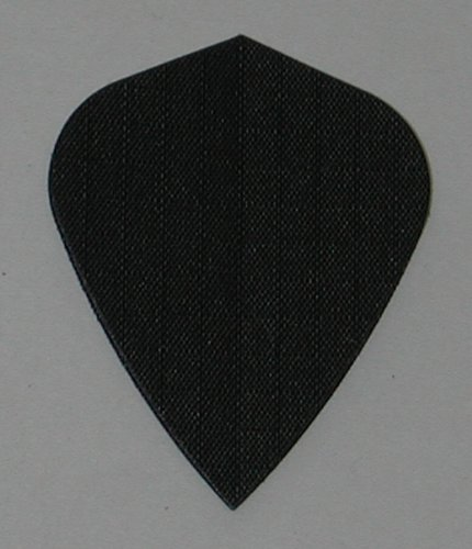 US Darts - 3 Sets (9 Flights) Black Nylon Kite Dart Flights - Cloth, Fabric, -