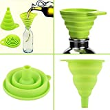 Colanders & Strainers - 1pcs Mini Silicone Gel Foldable Collapsible Style Funnel Hopper Cooking Gadgets Useful Products - Cooking Kitchen Cook Gadgets Tools