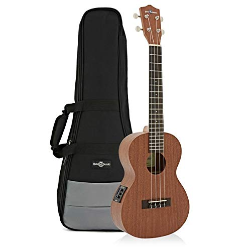 Deluxe Electro Acoustic Tenor Ukulele Pack by Gear4music