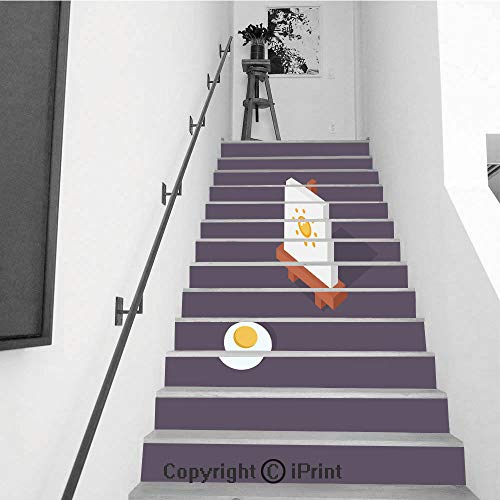 Stair Stickers Wall Stickers,13 PCS Self-Adhesive,Make Your Home Unique,Easel Vector illustration3