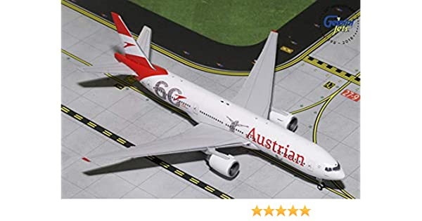 680b1af19421 Amazon.com  GeminiJets Austrian Airlines B777-200ER OC-LPF 1 400 Scale  Diecast Model Airplane  Toys   Games