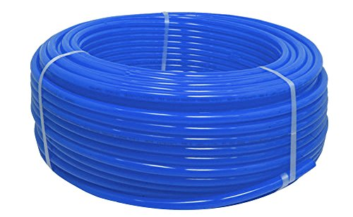 1/2-Inch Pex Tubing - 100 Feet of Water Polyethylene Tube Pipes - Blue Non-Barrier Flexible Durable Flow Coil Pipe - PEX-B 1/2'' by100-Feet Residential Commercial Hot & Cold by CMI Inc.
