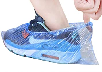 100pcs Premium Disposable Shoe Cover Non-Slip Dustproof Overshoes//Ankle Boots//Shoe Covers and Protectors for Floor and Carpet